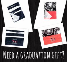 Personalized graduation/class of 2018 towels. Perfect for transitioning into college life or a dorm room after high school. Offered by Thirty-one