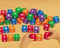Snap-Together Letter Blocks  #LakeshoreDreamClassroom