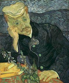 Portrait of Doctor Gachet version 2   Vincent Van Gogh   oil painting