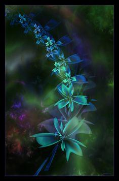 Delphinium blue by Szellorozsa