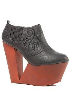 *Sole Boutique Platform Bootie in Black : Karmaloop.com - Global Concrete Culture