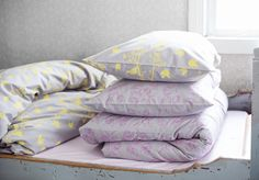 Luomupuuvillaiset lakanat - Organic cotton bed linen #piccu #bedroom #bedding