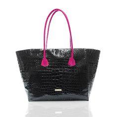 Two Toned Bottom Satchel: PEcado #PEcado #PEcadohandbags, #handbags #leather #amazinghandbags #purses #totes #shoplocal #styleshack #northernmichgian #shoplocalmichigan #animal #fur #stylish #black #pink #satchel