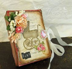Scrap and Craft: Mini album using products from www.scrapandcraft.co.uk #cards #crafts #vintage #minialbum #studio75 #lemoncraft #flowers