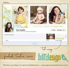 Facebook custom timeline cover  E3456 by birdesign on Etsy, $8.00