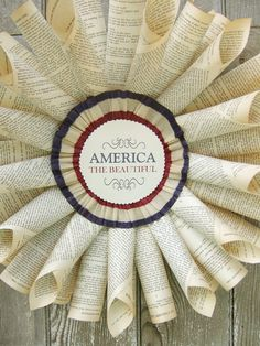 French Paper Americana Wreath