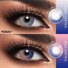Soft Contact Lenses, Galaxy Colors, Fresh Makeup, Circle Lenses, Eye Circles, Purple Eyeshadow, Colored Contacts, Fantasy Makeup, Pink Eyes