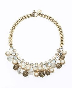 Jan 2014-Pearlized Lucite Bauble Statement Necklace