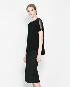 Image 1 of COMBINED SLEEVE TOP from Zara