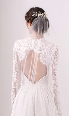 A 'barely-there' veil. £68, Britten