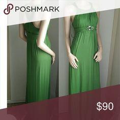 Bebe Maxi Dress Green XS 0 2 New bebe Dresses Maxi