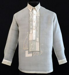 barong tagalog for wedding ceremony idea like the modern touch! Wedding Suits, Wedding Themes, Wedding Dresses, Wedding Ideas, Barong Tagalog, Filipino Wedding, Filipiniana Dress, Filipino Fashion, Line Shopping