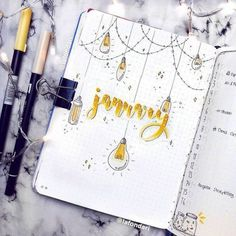 January Bullet Journal Inspiration - Rae's Daily Page Bullet Journal School, Bullet Journal Cover Ideas, February Bullet Journal, Bullet Journal Headers, Bullet Journal Writing, Bullet Journal Aesthetic, Bullet Journal Notebook, Bullet Journal Layout, Journal Covers