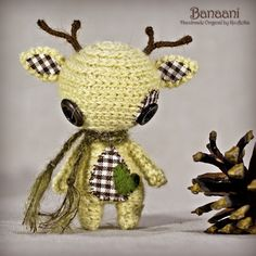 Banaani - Original Handmade Reindeer/Collectable/Gift/Charm
