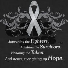 Always Hope. Brain Tumor Awareness Day.