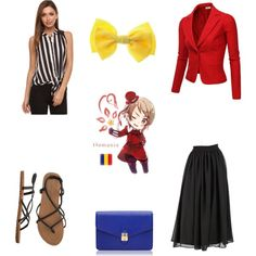 """Hetalia! Romania inspired outfit"" by latanita on Polyvore"