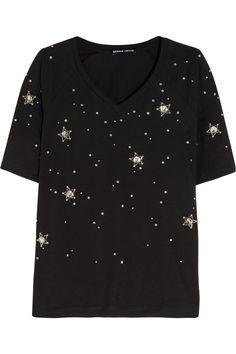 Markus Lupfer | Constellation Stars embellished cotton-jersey T-shirt | NET-A-PORTER.COM