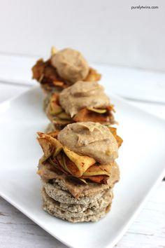 Gluten-free AND dairy-free caramel apple pancakes.