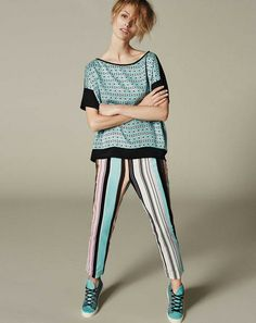 IMPACT LINES - Top Roger, trousers Pescara, sneakers Apple