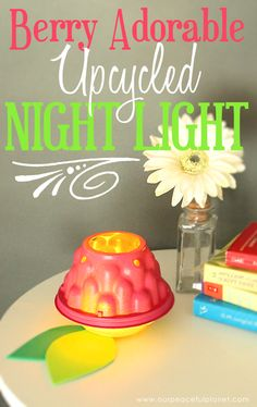 """""""Berry"""" Amazing Upcycled DIY Room Decor Light!~~cause I knew there was a reason to keep those cute little tomato containers!!!!!"""