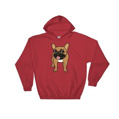 Black Mask Fawn French Bulldog is ready to play Hooded Sweatshirt