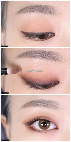 Excellent Pics Makeup style korean Popular, Best Makeup Tutorials And Beauty Tip. - Excellent Pics Makeup style korean Popular, Best Makeup Tutorials And Beauty Tips From The Web. Make Up Tutorial Eyeshadows, Smokey Eye Makeup Tutorial, Eyeshadow Tutorials, Make Up Tutorial Eyebrows, Easy Eye Makeup, Easy Makeup Looks, Easy Makeup Tutorial, Korean Eyebrows, Korean Eye Makeup
