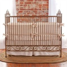 @Rosenberry Rooms is offering 10% OFF your purchase! Share the news and save! Casablanca Crib in Gold #rosenberryrooms