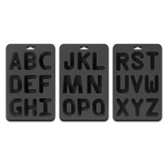 Silicone Rubber Alphabet Ice Cube Trays - you can use these to not only make alphabet ice cubes but you could make Jello letters or even butter letters.  Kids would have fun with their initials floating around in their drink too.