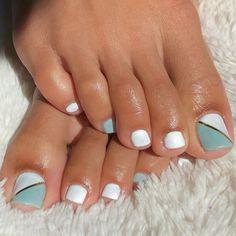 Toe Nails White, Fall Toe Nails, Acrylic Toe Nails, Painted Toe Nails, Pretty Toe Nails, Cute Toe Nails, Summer Toe Nails, White Toes, Nail Designs Toenails