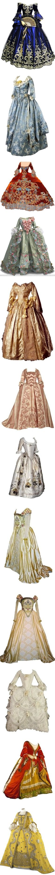 maria antoinettes masquerade gowns by missherjh on Polyvore featuring dresses, gowns, long dress, historical, gown, medieval, costume, leilani, costumes and period clothes