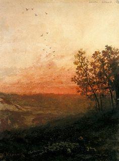Landscape with Sunset, Odilon Redon