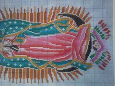 Punto de cruz Virgen de Guadalupe gratis - Imagui