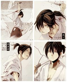 Does anyone else see the similarity between Yato with a ponytail and Nezumi/Rat from No.6?