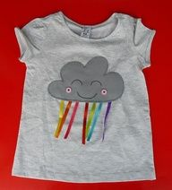 grey cloud with rainbow ribbons dangling---DIY for Sweetheart