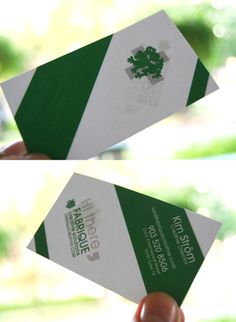 Business cards by paper monkey press httppapermonkeypress kim strom this double sided business card paints angular bold stripes in green and white with a distinctive predatory looking logo reheart Images