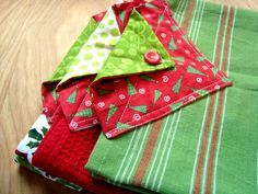 Let's make a few quick and simple hanging towels. They are made with store bought towels-- to make our sewing time short. Lets get started!