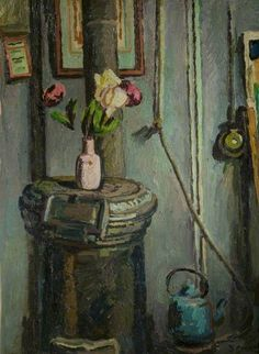 Duncan Grant (UK, - The Pink Vase - 1934 - oil on paper on panel - New Walk Museum & Art Gallery, Leicester, UK Duncan Grant, Vanessa Bell, Bell Art, Bloomsbury Group, Museum Art Gallery, Found Art, Art Uk, Art For Art Sake, Beautiful Paintings
