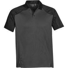 Stormtech Men's Graphite/Black Vector Polo Mens Hottest Fashion, Mens Fashion, Mens Polo T Shirts, Polo Shirt, Polo Design, Everyday Outfits, Sportswear, Two By Two, My Style
