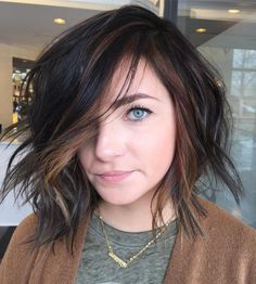 Side-Swept Lob With Highlights