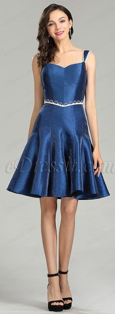 f1439203d540 Cute Blue Backless Cocktail and Party Dress #eDressit Homecoming Dresses,  Royal Blue, Shoulder