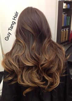 Balayage, I really want to do this! It's basically where you brush the highlights where you want them instead of foiling