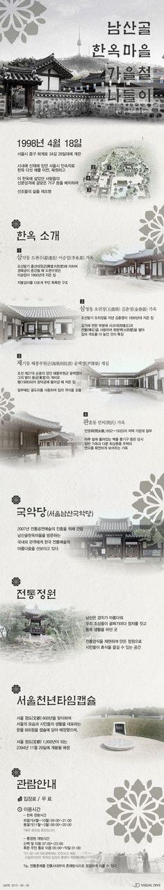 시내에서 즐기는 풍류, 남산골 한옥 마을 [인포그래픽] #Korean_house / #Infographic ⓒ 비주얼다이브 무단…