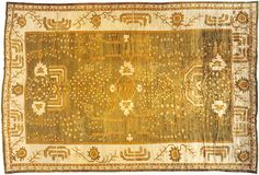 """Oushak & Turkish 19' 9"""" x 13' 2"""" Antique Oushak at Persian Gallery New York - Antique Decorative Carpets & Period Tapestries"""