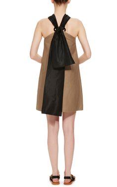 Linen Halter Mini Dress by Isa Arfen - Moda Operandi