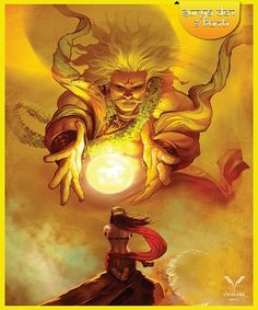 The Sixth -From the ancient texts of Indian Mythology comes the true Story Of a legendary Sun warrior King Karna! The Hero who was born with a golden ar. The Sixth-The Legend of Karna Shiva Art, Krishna Art, Hindu Art, Ganesha Art, Fantasy Concept Art, Indian Art Paintings, Epic Art, God Pictures, Indian Gods