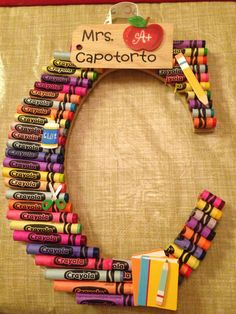 crayon letter-teacher gift