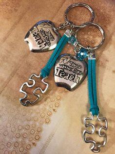 Autism Teacher Key Chain Handmade Autism por AutismLoveHope