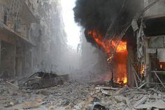 La Península Ibérica desde el espacio, protesta en Moscú, bombardeo en la ciudad de Alepo...