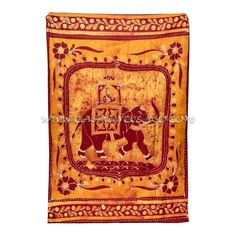 Cubre Cama Maharaja Elephant  100% algodón  Diseño estilo Batik. Medidas: 135 x 210cm.