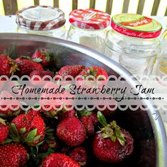 Down to Earth Style: Homemade Strawberry Freezer Jam (best ever)